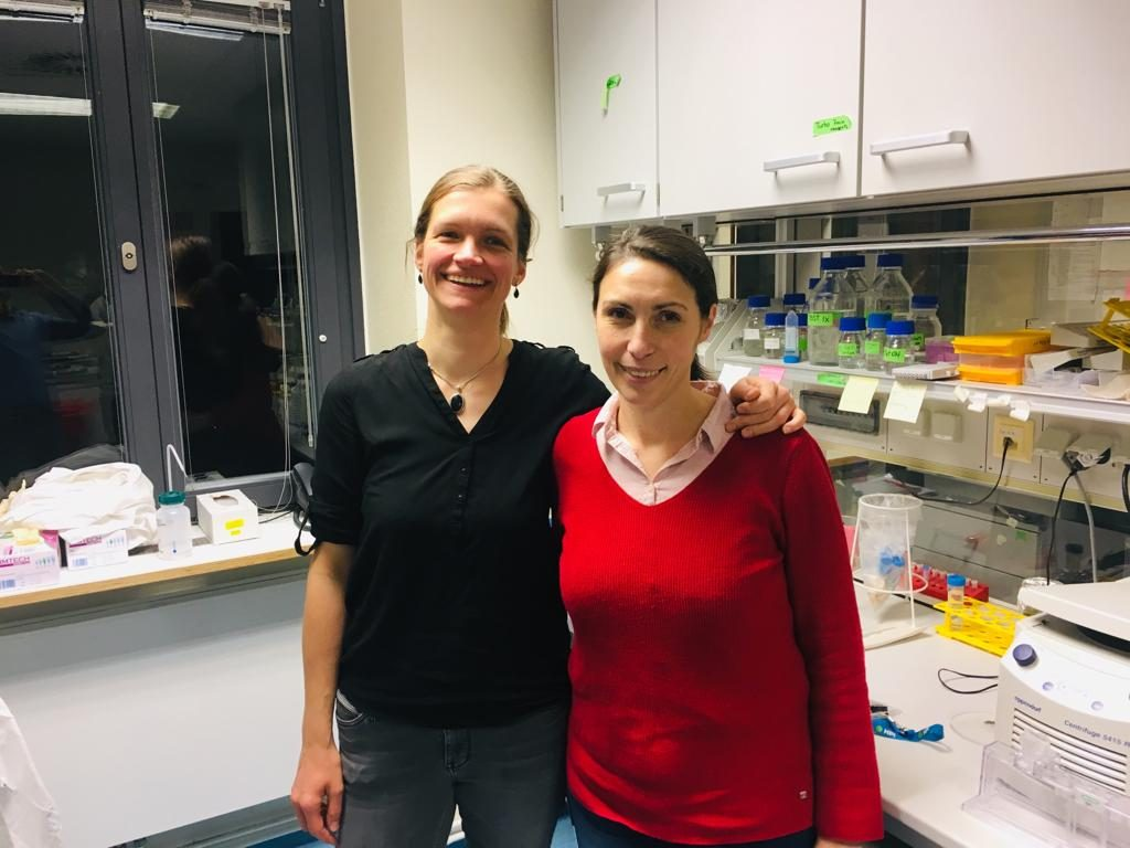 "Collaboration meeting with Giada Frascaroli from the Heinrich Pette Institute (HPI) in Hamburg. We discussed my presentation on ""Exploring rubella virus and its connections to cytomegaloviurs""."